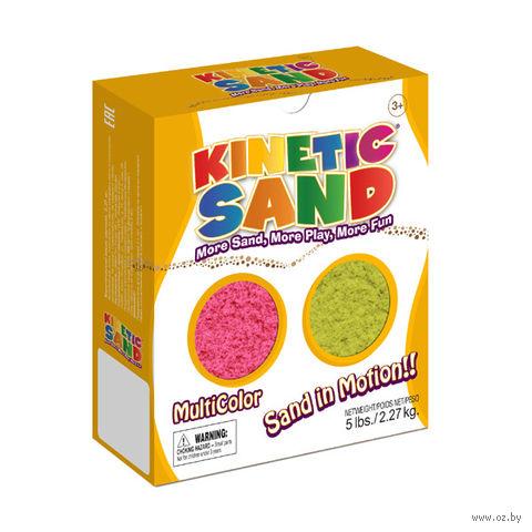 """Кинетический песок """"Kinetic Sand. Розовый, желтый"""" (2,27 кг)"""