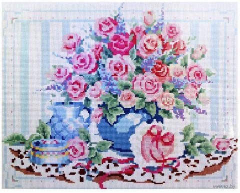 """Алмазная вышивка-мозаика """"Нежные розы"""" (400x500 мм) — фото, картинка"""