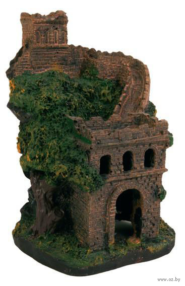 "Декорация для аквариума ""Замковая стена"" (14 см) — фото, картинка"
