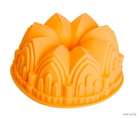 """Форма для выпекания силиконовая """"Шотландский кекс"""" (220х88 мм; персиковая) — фото, картинка"""