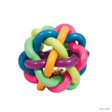 """Игрушка для собак """"Мяч-лабиринт с колокольчиком"""" (8,5 см) — фото, картинка"""