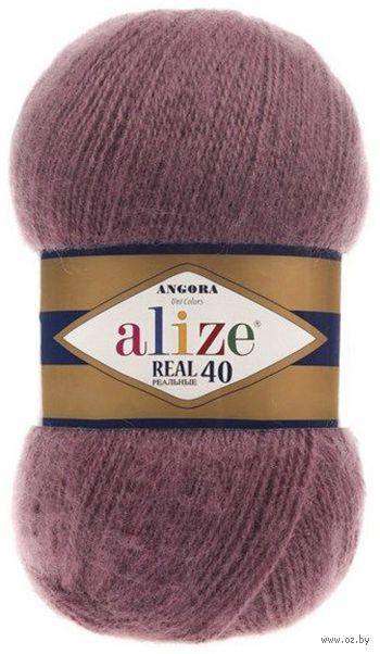 "Пряжа ""ALIZE. Angora Real 40 №169"" (100 г; 480 м; сухая роза) — фото, картинка"