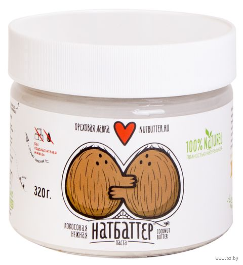 """Паста кокосовая """"Nutbutter"""" (320 г) — фото, картинка"""