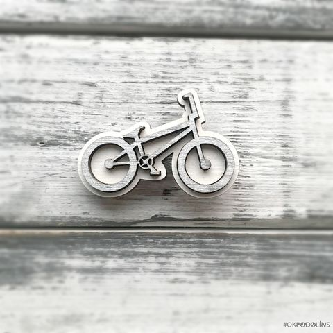 "Брошь ""Велосипед"" (арт. 23-3) — фото, картинка"