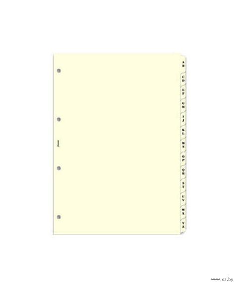 """Комплект Filofax """"Разделители алфавитные, 2 буквы, А-Я"""" (pocket, cream)"""