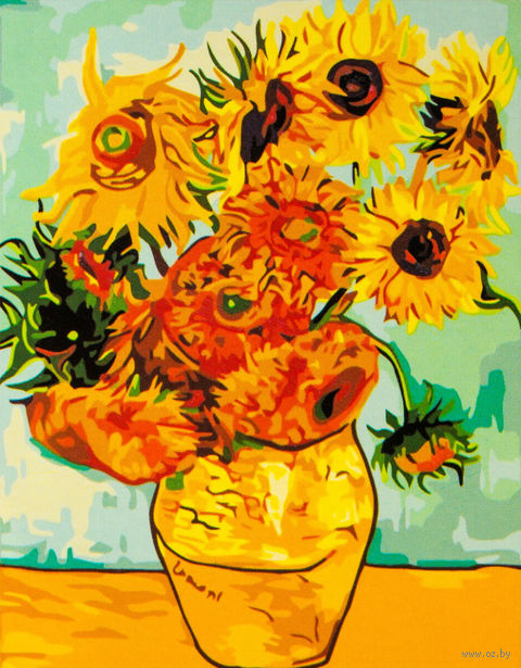 "Картина по номерам ""Подсолнухи Ван Гога"" (400x500 мм; арт. MG098)"