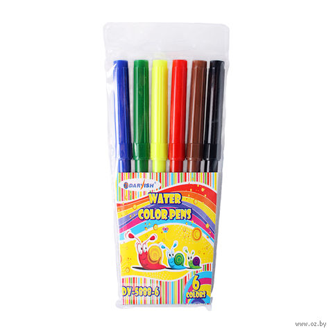 """Фломастеры """"Darvish"""" на водной основе (6 цветов; арт. DV-5888-6)"""