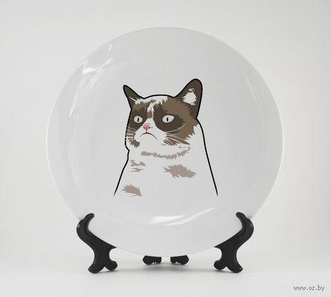 """Тарелка """"Grumpy Cat"""" (262)"""