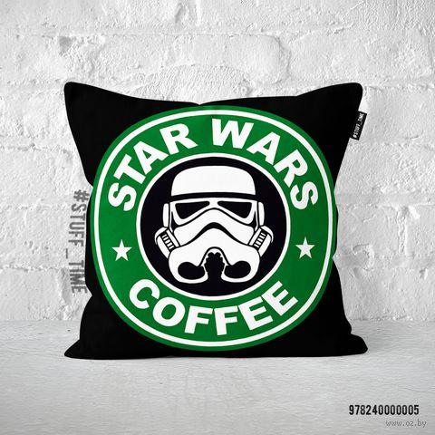 """Подушка """"Звездные войны. Кофе"""" (арт. 005) — фото, картинка"""