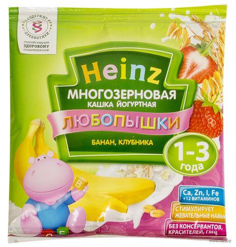 "Детская каша Heinz Baby ""Любопышки. Йогурт, банан, клубника"" (30 г) — фото, картинка"