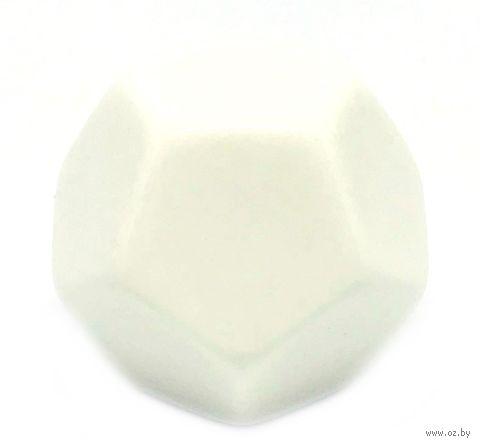 "Кубик D12 ""Пустой"" (28 мм; белый) — фото, картинка"