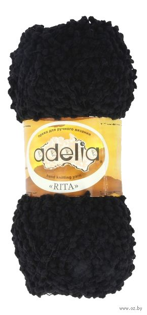 """Пряжа """"Adelia. Rita №2"""" (50 г; 145 м; чёрный) — фото, картинка"""