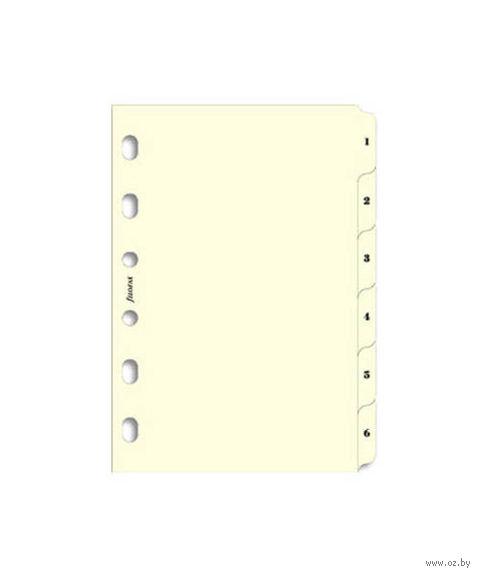 "Комплект Filofax ""Разделители тематические, 5 секций"" (pocket, cream)"