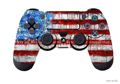 "Наклейка защитная для геймпада ""USA flag"" (p4husaa) (PS4)"