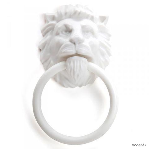 """Держатель для полотенца """"Lion head"""" (белый)"""