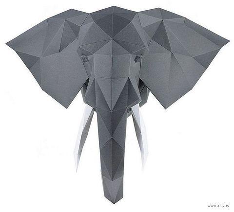 """3D-конструктор """"Слон Володя"""" (чёрный) — фото, картинка"""