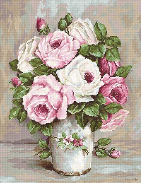 """Вышивка крестом """"Смешанные розы"""" (280х365 мм) — фото, картинка"""