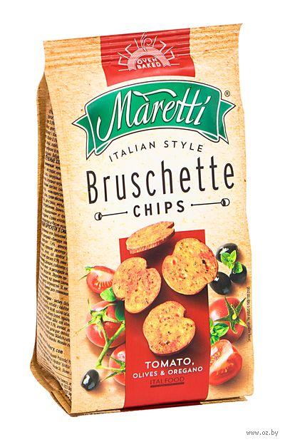 """Сухарики """"Bruschette. Помидоры, оливки, орегано"""" (70 г) — фото, картинка"""