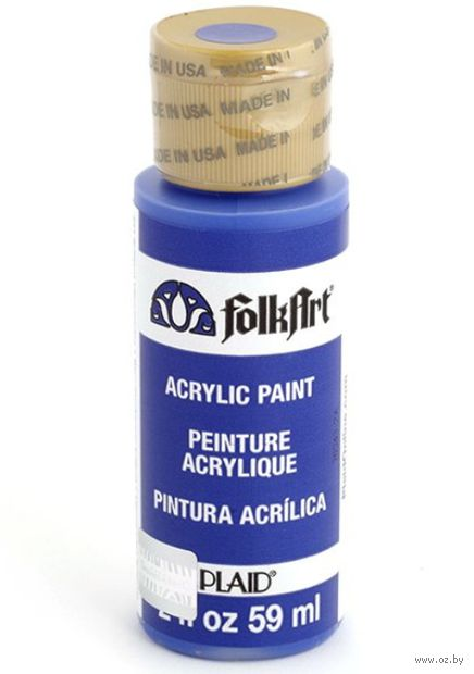 "Краска акриловая ""FolkArt. Acrylic Paint"" (бледный ультрамарин, 59 мл; арт. PLD-00484)"