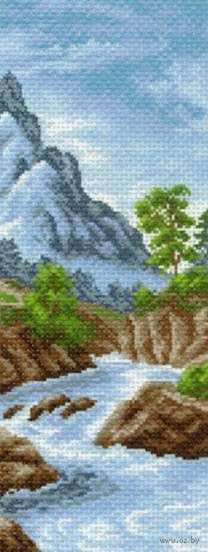 """Канва с нанесенным рисунком """"Горная река"""""""
