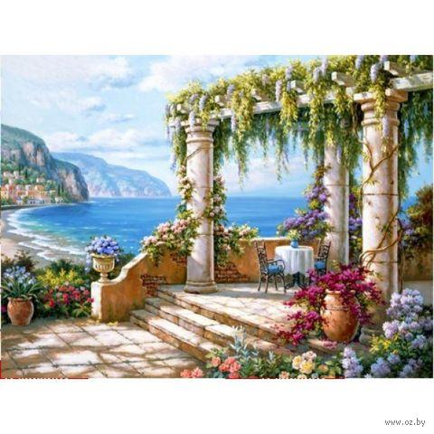 "Алмазная вышивка-мозаика ""Терраса у моря"" (400х300 мм) — фото, картинка"