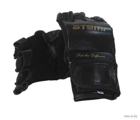 Перчатки для MMA LTB19111 (L; кожа; чёрные) — фото, картинка