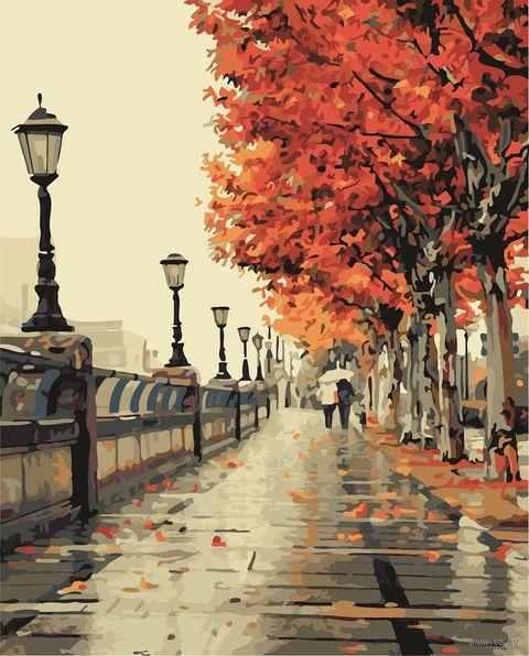 """Картина по номерам """"Осенняя прогулка"""" (500х650 мм) — фото, картинка"""
