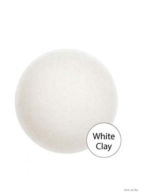 "Спонж для очистки лица ""White Clay"" — фото, картинка"