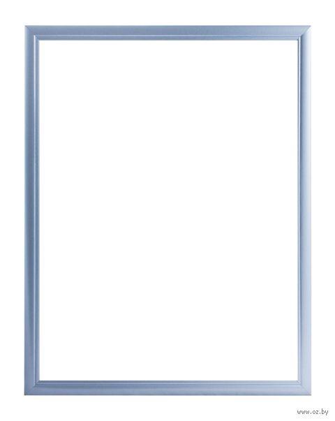 Рамка деревянная для картины по номерам (50х65 см; голубая) — фото, картинка