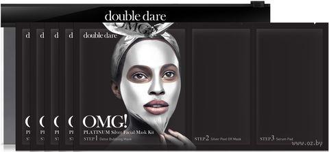 """Набор масок для лица 3в1 """"Silver Facial """" (5 шт.) — фото, картинка"""