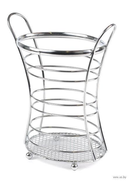 Подставка для столовых приборов металлическая (140х100х190 мм)