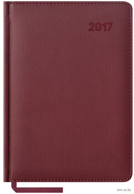 """Ежедневник датированный """"Vivella"""", 2017 (А5; 176 листов; бордовый)"""