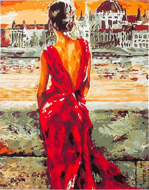 """Картина по номерам """"Раздумья у реки"""" (400х500 мм; арт. PC4050126) — фото, картинка"""
