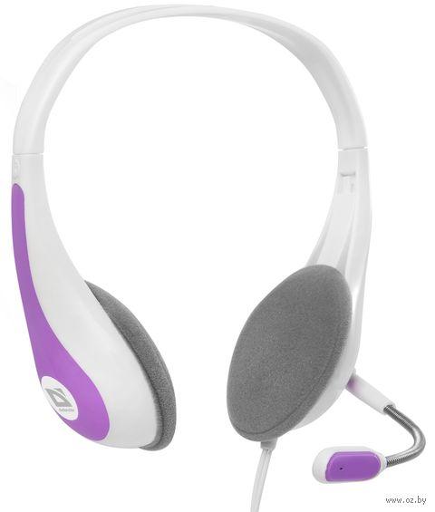 Гарнитура Defender Esprit HN-836 (бело-розовая) — фото, картинка