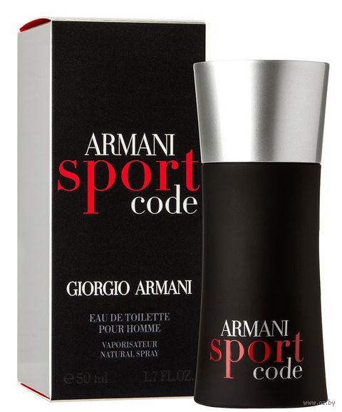 """Туалетная вода для мужчин Giorgio Armani """"Code Sport"""" (50 мл) — фото, картинка"""