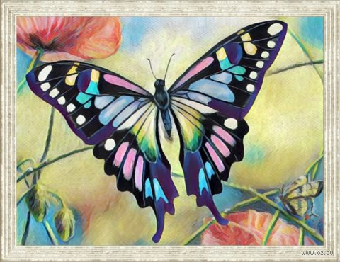 """Вышивка пайетками """"Бабочка"""" (300х400 мм) — фото, картинка"""