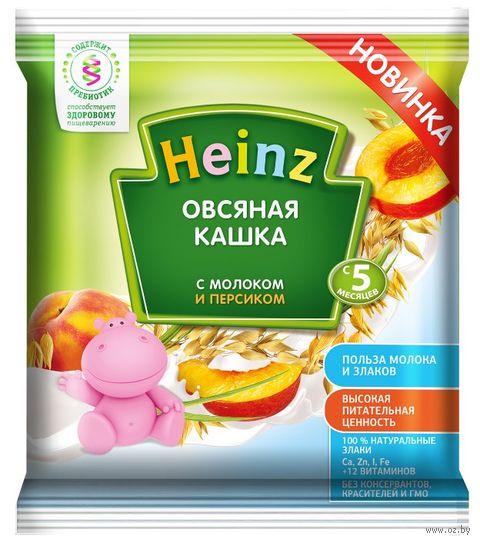 """Детская каша Heinz Baby """"Овсяная с молоком и персиком"""" (30 г) — фото, картинка"""