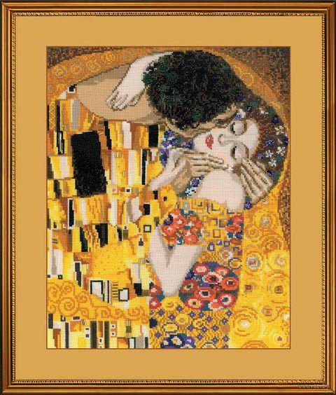 "Вышивка крестом ""Густав Климт. Поцелуй"" (300х350 мм) — фото, картинка"