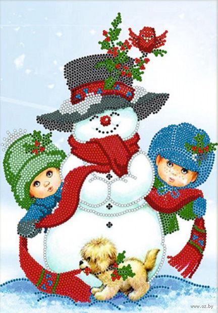 """Вышивка бисером """"Рождественские забавы"""""""