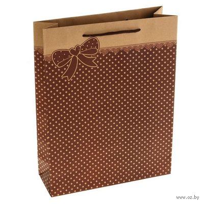 Пакет бумажный подарочный (25х9х33 см; арт. 10776432)