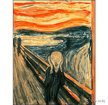 """Картина по номерам """"Эдвард Мунк. Крик"""" (400x500 мм) — фото, картинка"""