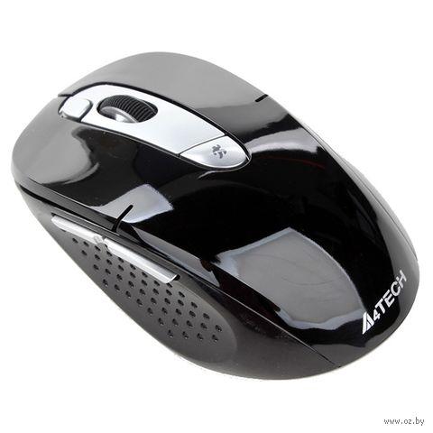 Мышь A4TECH G9-570HX-1 (черно-серебристая) — фото, картинка