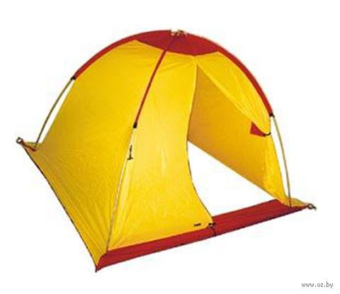 Палатка рыбака (жёлто-красная) — фото, картинка