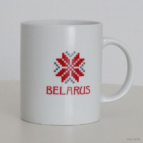 """Кружка керамическая Vitaem """"Belarus"""" (стандартная, белая)"""