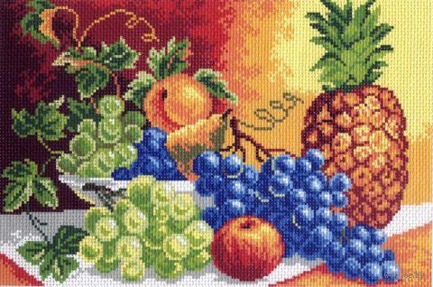 """Канва с нанесенным рисунком """"Натюрморт с ананасом"""""""