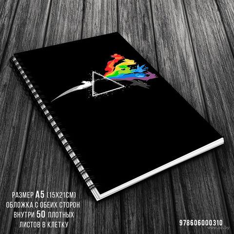 """Блокнот в клетку """"Pink Floyd"""" (A5; арт. 310)"""