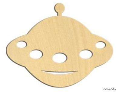 """Заготовка деревянная """"Летающая тарелка"""" (100х79 мм)"""