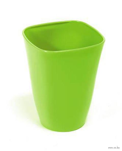 """Кашпо """"Flora"""" (12,5х12,5х17 см; зеленый) — фото, картинка"""