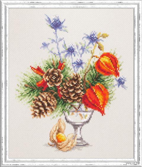 """Вышивка крестом """"Зимний букетик"""" (200x230 мм) — фото, картинка"""