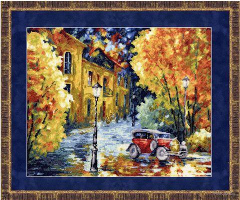 """Вышивка крестом """"Осенний марафон"""" (285х345 мм) — фото, картинка"""